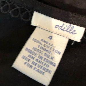 Anthropologie Tops - ANTHROPOLOGIE ODILLE Black Silk Blouse Size 4